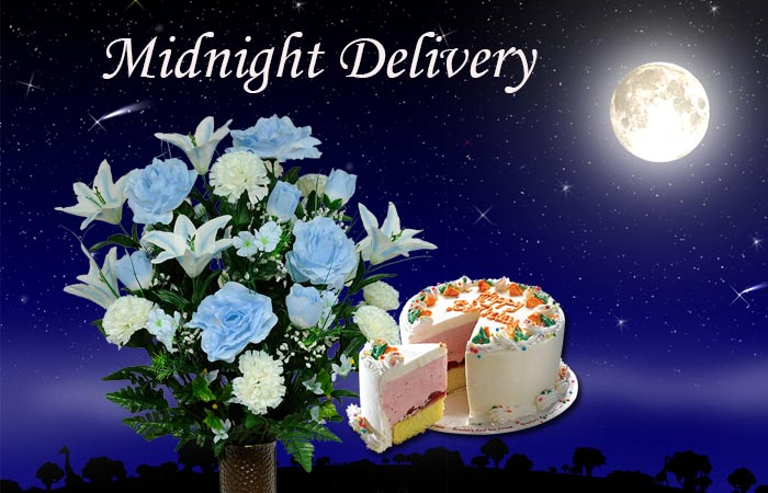 Midnight Cake & Flowers Delivery