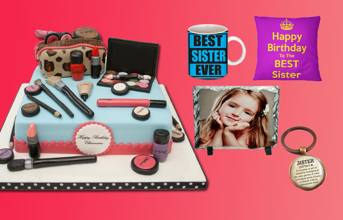 Personalized Birthday Gifts and Cake