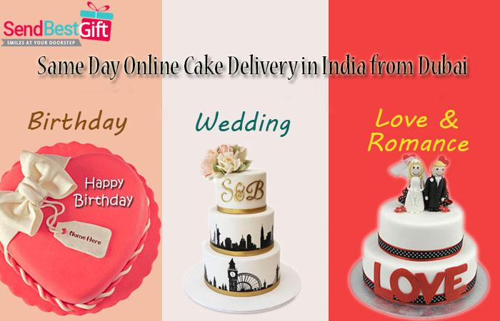 Groovy Same Day Online Cake Delivery In India From Dubai Sendbest T Com Personalised Birthday Cards Veneteletsinfo