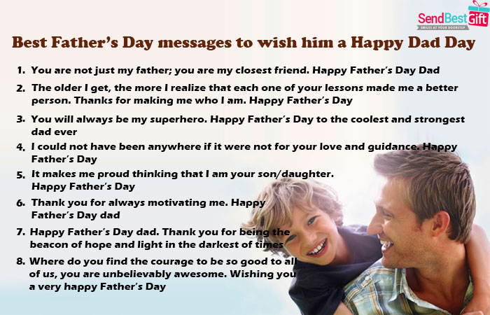 Best Father's Day messages to wish him a Happy Dad Day