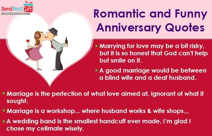 Romantic and Funny Anniversary Quotes - Sendbestgift.com