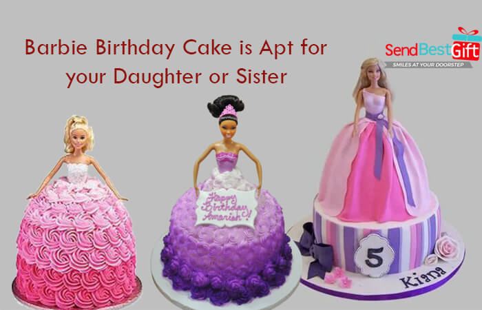 Sensational Barbie Birthday Cake Is Apt For Your Daughter Or Sister Funny Birthday Cards Online Fluifree Goldxyz
