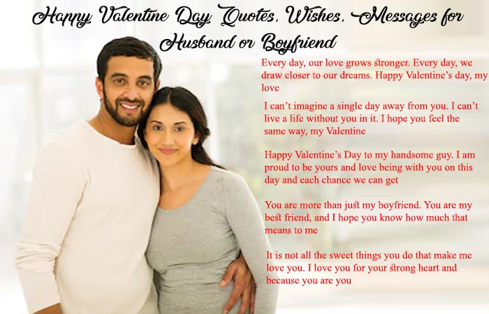 Happy Valentine Day Quotes, Wishes, Messages for Husband or Boyfriend
