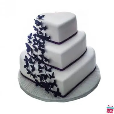 Heart Shape 3 Tier Cake