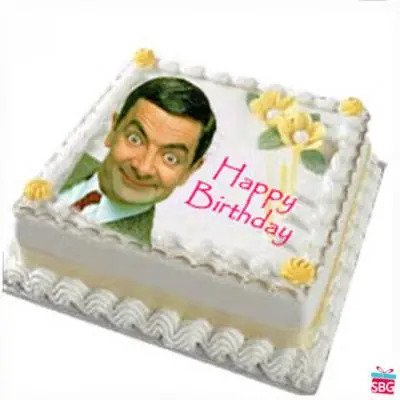 Mr Bean Photo Cake
