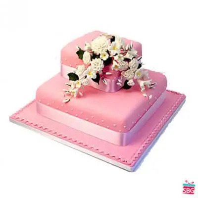 Square 2 Tier Cake From 5 Star