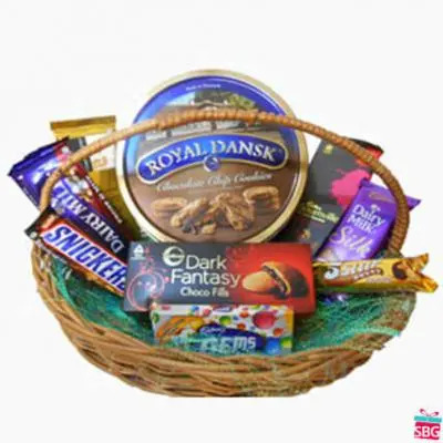 Basket of Chocolates & Cookies