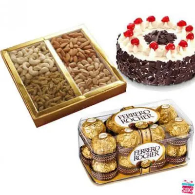 Chocolate, Cake & Dry Fruits