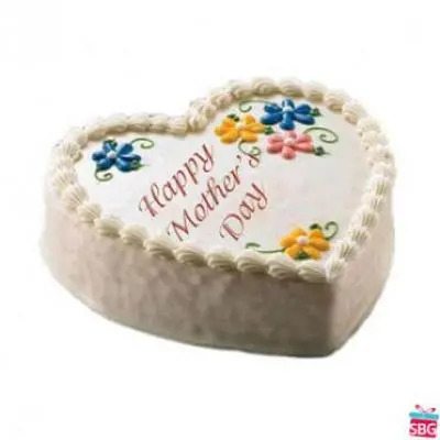 Mothers Day Heart Shape Cake