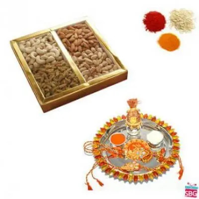 Rakhi Thali With Mix Dry Fruits