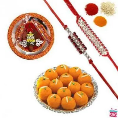 Rakhi Thali With Motichoor Laddu