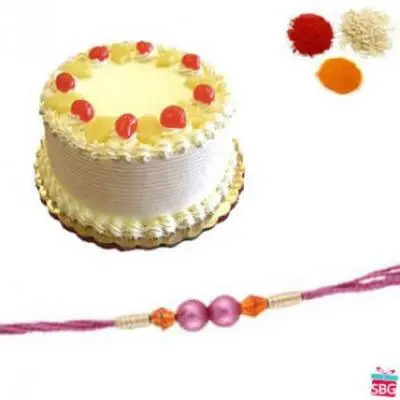 Pineapple Cake With Rakhi
