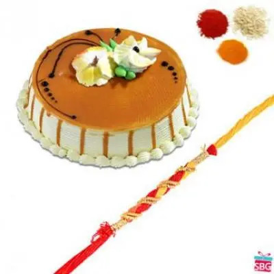 Butter Scotch Cake With Rakhi