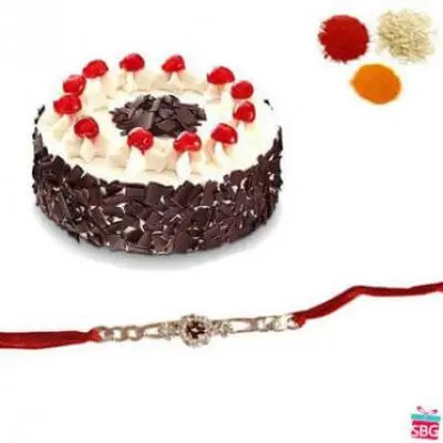 Black Forest Cake With Rakhi