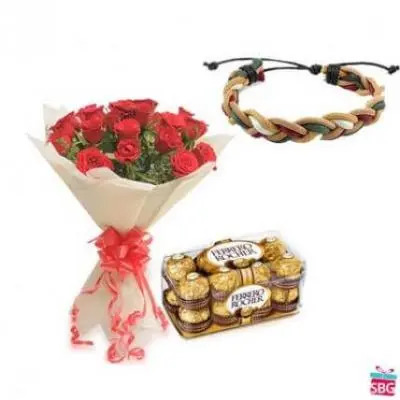 Red Roses, Ferrero Rocher With Band