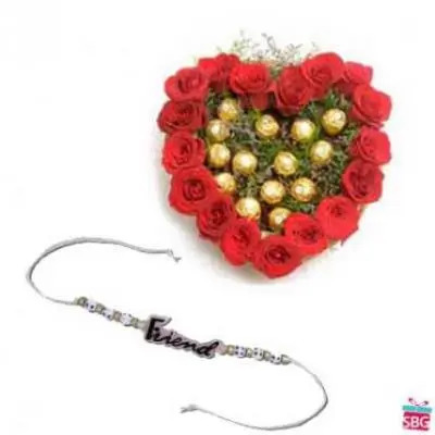 Roses, Ferrero Rocher With Friendship Band