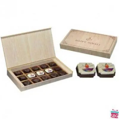 Diwali Gifts-10 Box, 15 Chocolate (Brown)