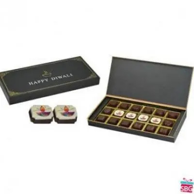 Diwali Gifts-10 Box, 18 Chocolate (Black Box)