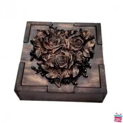 Wood Carved Flower Box