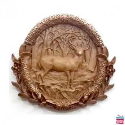 Deer Plaque Wood Carving