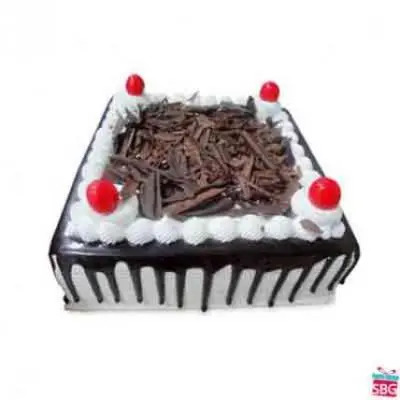 Eggless Black Forest Square Cake