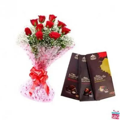 Red Roses With Bournville
