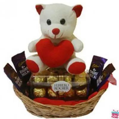 Teddy In Chocolate Basket