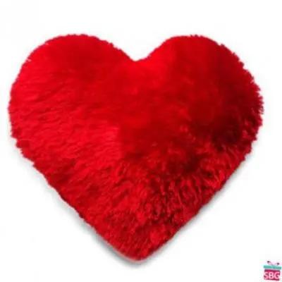 Heart Shape Fur Cushion