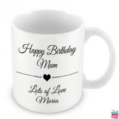 Personalized Text Mug