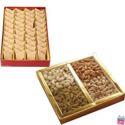 Dry Fruits With Kaju Burfi