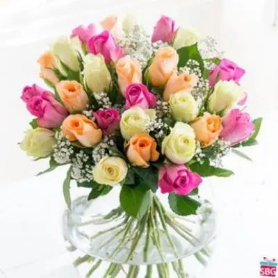 Mix Roses Bouquet 50 Flowers