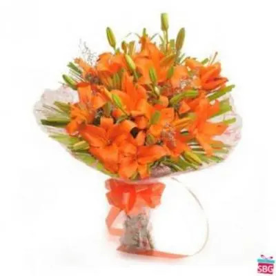 Orange Lily Bouquet