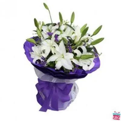 White Lilies Bouquet