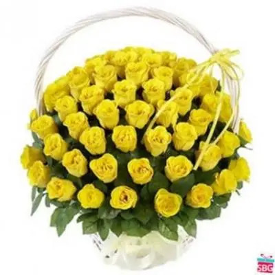 Yellow Roses Big Basket