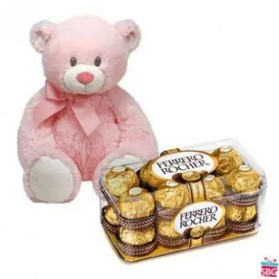 Teddy With Ferrero Rocher