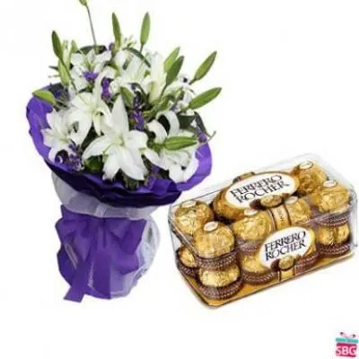 Lilies With Ferrero Rocher