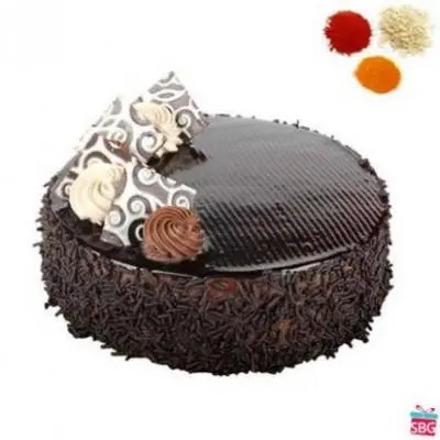 Chocolate Cake With Rolli Tikka