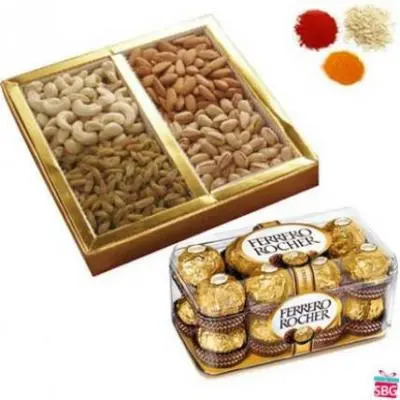 Dry Fruits, Chocolates With Rolli Tikka