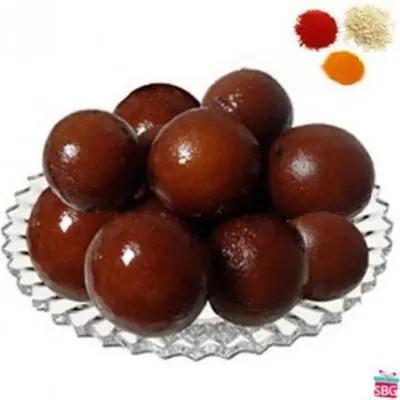 Gulab Jamun With Rolli Tikka