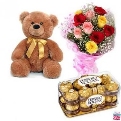 Teddy, Mix Roses With Ferrero Rocher