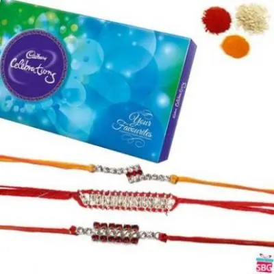 3 Rakhi With Cadbury Celebration