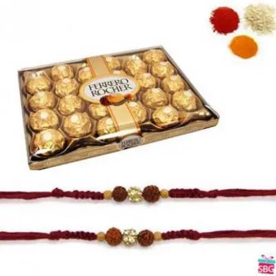 24 Pcs Ferrero Rocher With Rakhi