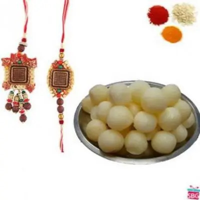 Bhai Bhabhi Rakhi With Rasgulla