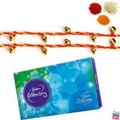 2 Rakhi With Cadbury Celebration
