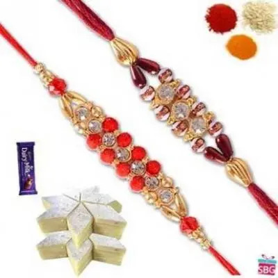 Set Of Two Rakhi