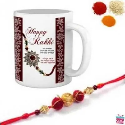 Personalized Mug With Rakhi