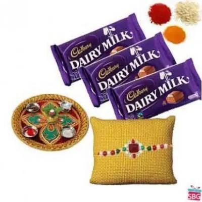 Rakhi Thali With Dairy Milk