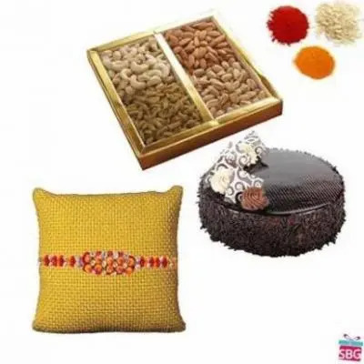 Dry Fruits, Cake With Rakhi