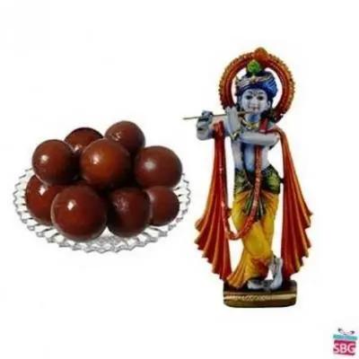 Krishna With Gulab Jamun