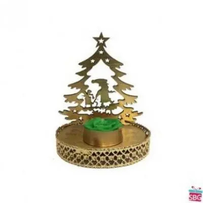 Christmas Tree Shadow Diya